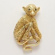 Darling Little Trifari Monkey Pin