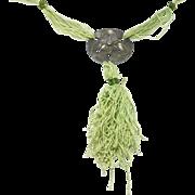 Rare Silver Jugendstil Arts & Crafts Hammered Necklace