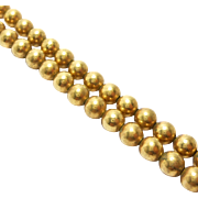 Antique 5mm Gold Filled Beads Necklace