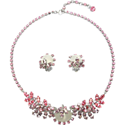 Austrian Necklace & Earrings Pastels And Moonglow Stones