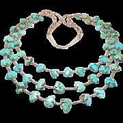 Vintage Santo Domingo Fetish Necklace Turquoise Bears