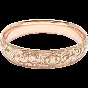 Antique Gold Filled Repousse Bangle Bracelet Ornate