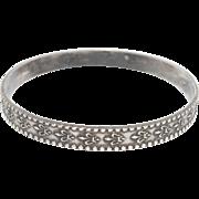 Rare Fleur De Lis Motif Danecraft Sterling Bangle Bracelet