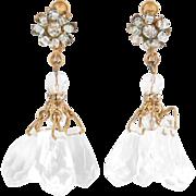 Fancy Miriam Haskell Dangling Lucite Chandelier Earrings