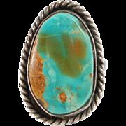 Vintage Royston Turquoise Silver Navajo Ring