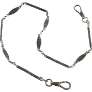 Art Deco Sterling Germany Niello Watch Chain