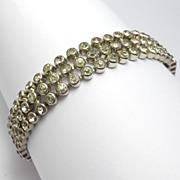 Art Deco Crystal Marked Czechoslovakia Line Bracelet