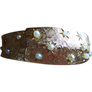 SALE REDUCED ~ WATCH BRACELET ~ D. Ornstein (D.O.) Faux Seed Pearl on Gold ...