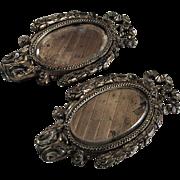 SALE ANTIQUE GILDED Baroque Cast Iron Mirror/Picture Frames ~ Gilded Cast Dresser, Mantel Or .