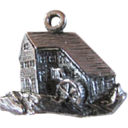 OLD MILL & STREAM ~~ Vintage Charm ~~ Sterling Silver Charmer