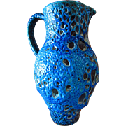 SALE Le CYCLOPES ~~  Cyclope Annecy ~~  Charles Cart ~~ Turquoise Blue Fat Lava PITCHER ...