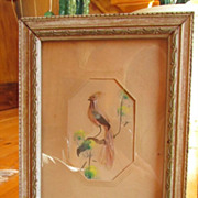 SALE AZTEC Folk Art Feather Birds, Made In Mexico In Early 1900's ~ Framed ...