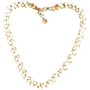 SALE RICHELIEU Necklace ~ Sweet, Floral Design In PEARLS ~ Another Fantastic Piece By RICHELIE