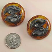 Bakelite Chunky Big Bold Vintage Shank Buttons