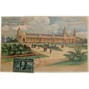 1904 St. Louis World's Fair Hold to Light Postcard