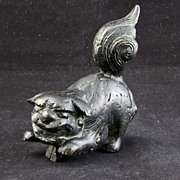 REDUCED Chinese 17th Century Chinese Bronze Foo Lion Finial