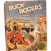 Big Little child's book of Buck Rogers on the Moons of Saturn #1143 from the 1930's