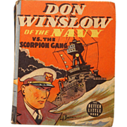 REDUCED Better Little Book of Don Winslow vs the Scorpion Gang #1419 from 1938