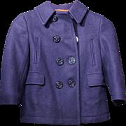 Child's Vintage Wool Navy Pea Coat