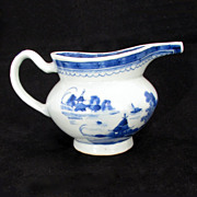 Early American Chinese Blue and White Porcelain Creamer with Long Nose Spout c1800