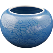 Incised Pale Blue Clair de Lune Chinese Porcelain Brushwash with Yongzheng Reign Mark c 1900