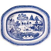 REDUCED Large Chinese export blue and white meat platter 18th/19th century