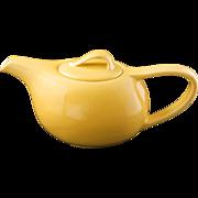 Mid-century Vernonware acacia yellow ceramic teapot Casual California pattern c 1953