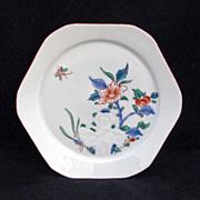 REDUCED Kakiemon Style Early 20th Century Hexagonal Japanese Porcelain Dish