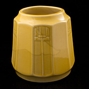 Vintage Yellow Glazed Arts and Crafts Red Wing Pottery Vase Early 20th century