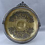REDUCED Victorian Aesthetic Movement Silver Plate Cake Basket by Simpson Hall Miller 1870 to 1