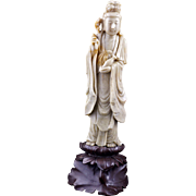 SOLD Chinese soapstone Guan Yin carving Republic Period early 20th century