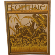 SOLD Fortune Magazine October 1935