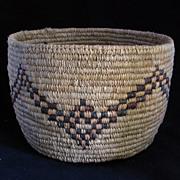 Chehalis Indian basket with dark step pattern design circa 1920's