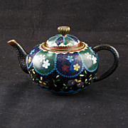 REDUCED Miniature Japanese cloisonné teapot Meiji Period