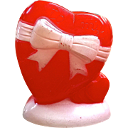 Valentine heart plastic candy container