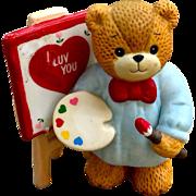 Enesco Valentine Artist ceramic bear