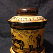 SALE Royal Doulton sepia toned pottery William Ye Driver tobacco humidor Nice 1910's