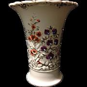 "SALE Meissen Roman Numeral period Rococo floral trumpet style mold design 6.5"" vase 1810"