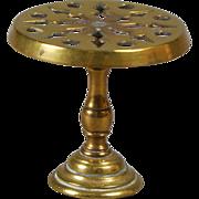 English Brass Pedestal Trivet