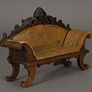 Carved walnut Settee