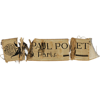Original Silk Label from a Paul Poiret Coat