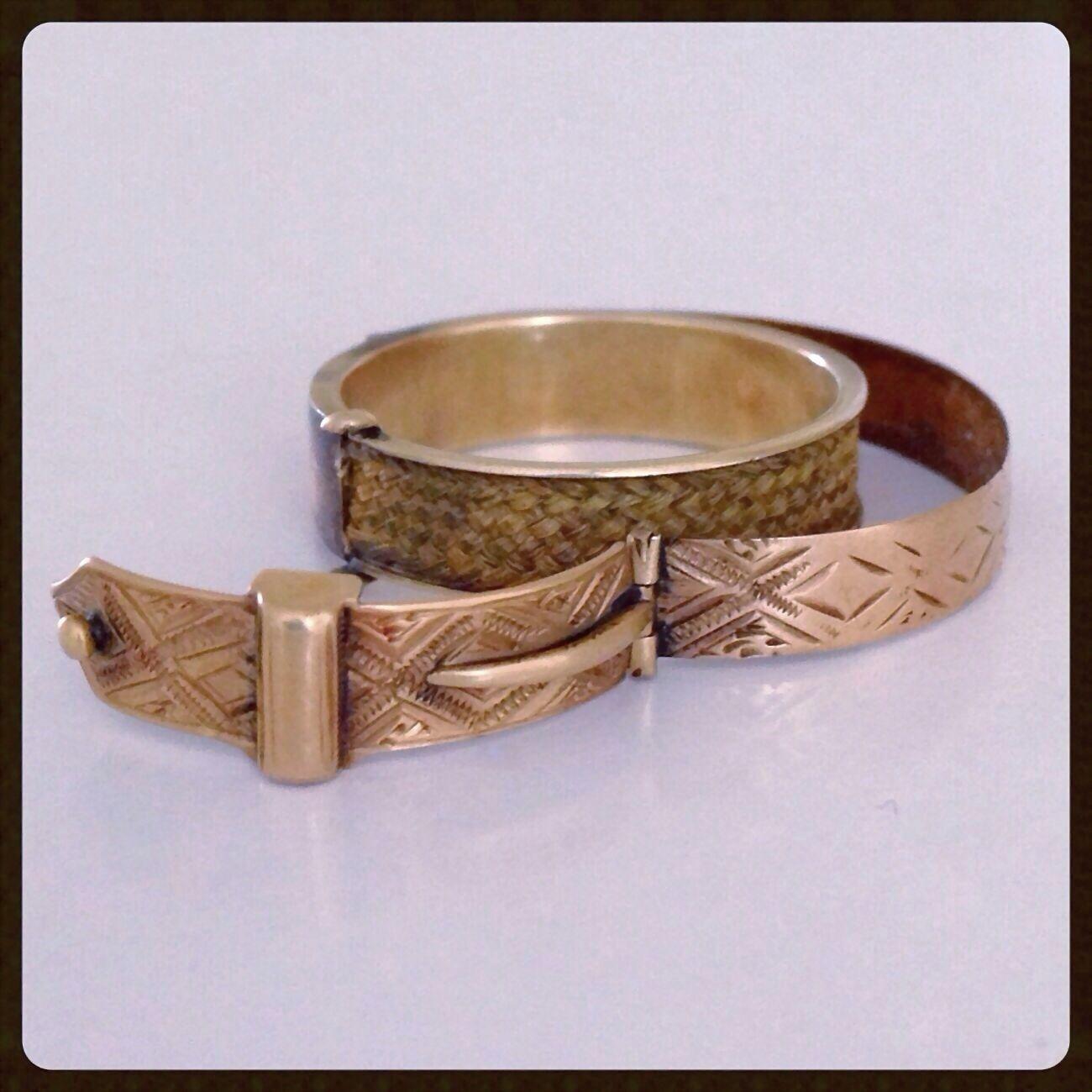 antique georgian secret locket buckle hair gold ring