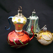 SOLD Christmas Ornaments: Two coffee pots and maybe a sugar bowl