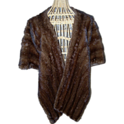 REDUCED Light Ranch Mink Stole