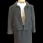 REDUCED Vintage Ben Zuckerman Black 2-Piece Suit