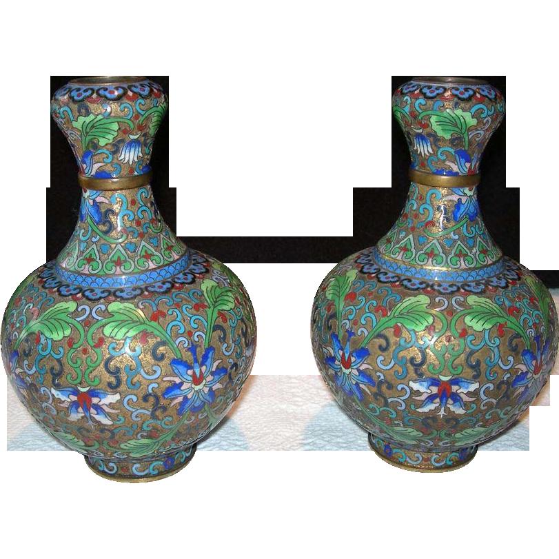Pair of Jingfa, Chinese Vases