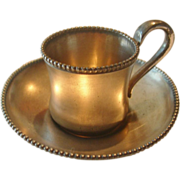 REDUCED Vintage Reed & Barton Plated Mini Cup & Saucer