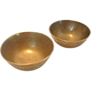 REDUCED Pair of Chinese Brass Bowls
