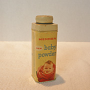 REDUCED Vintage Mennen Baby Powder Tin