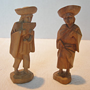 Small Peruvian Carved Wooden Figurines